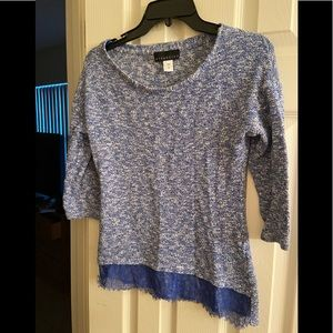 3/4 Sleeve Attention Brand Blue Sweater; Size M.